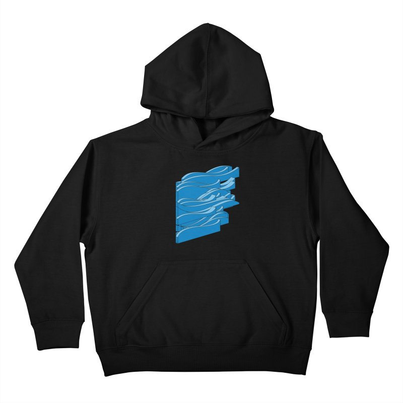 Isometric Waves Kids Pullover Hoody by bulo