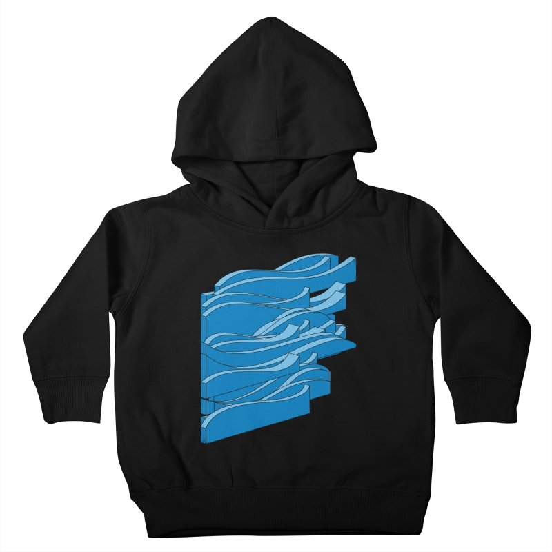 Isometric Waves Kids Toddler Pullover Hoody by bulo