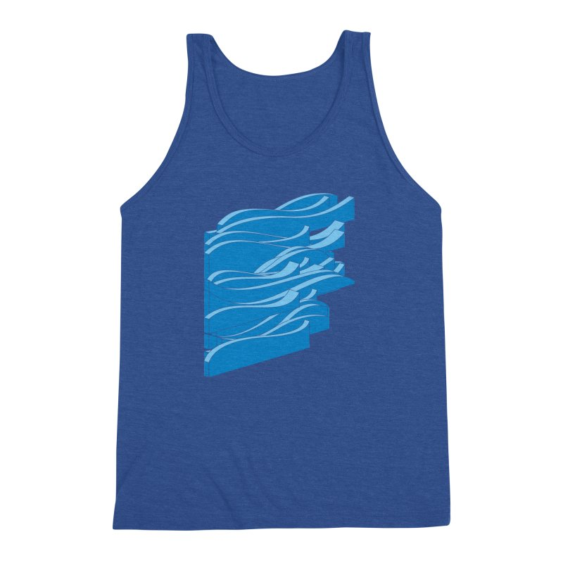 Isometric Waves Men's Triblend Tank by bulo