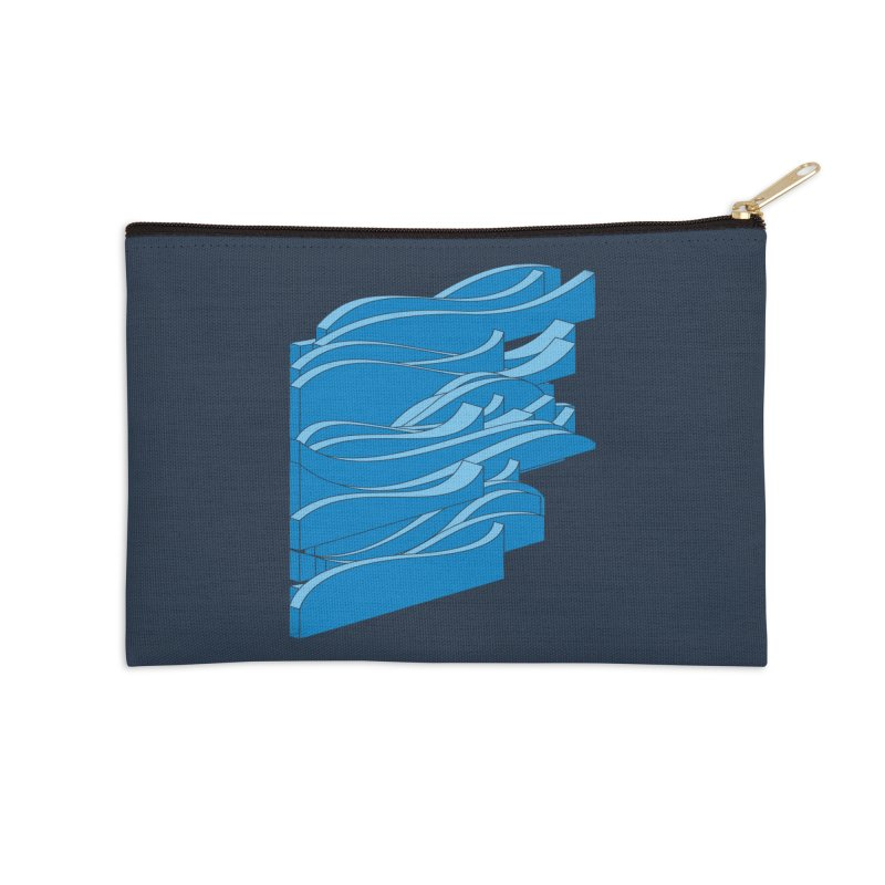 Isometric Waves Accessories Zip Pouch by bulo