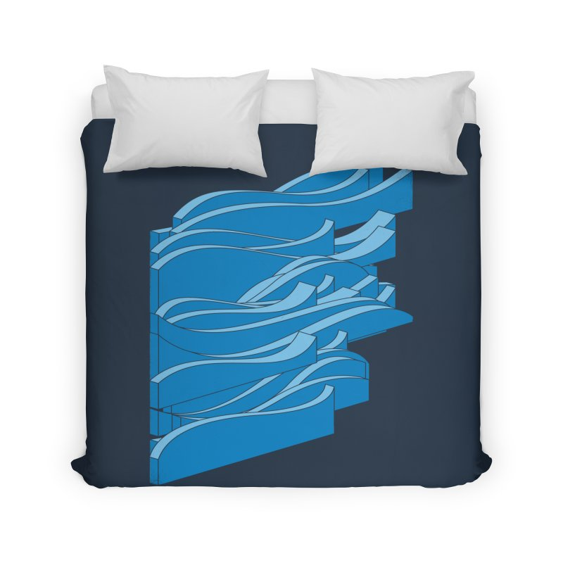 Isometric Waves Home Duvet by bulo