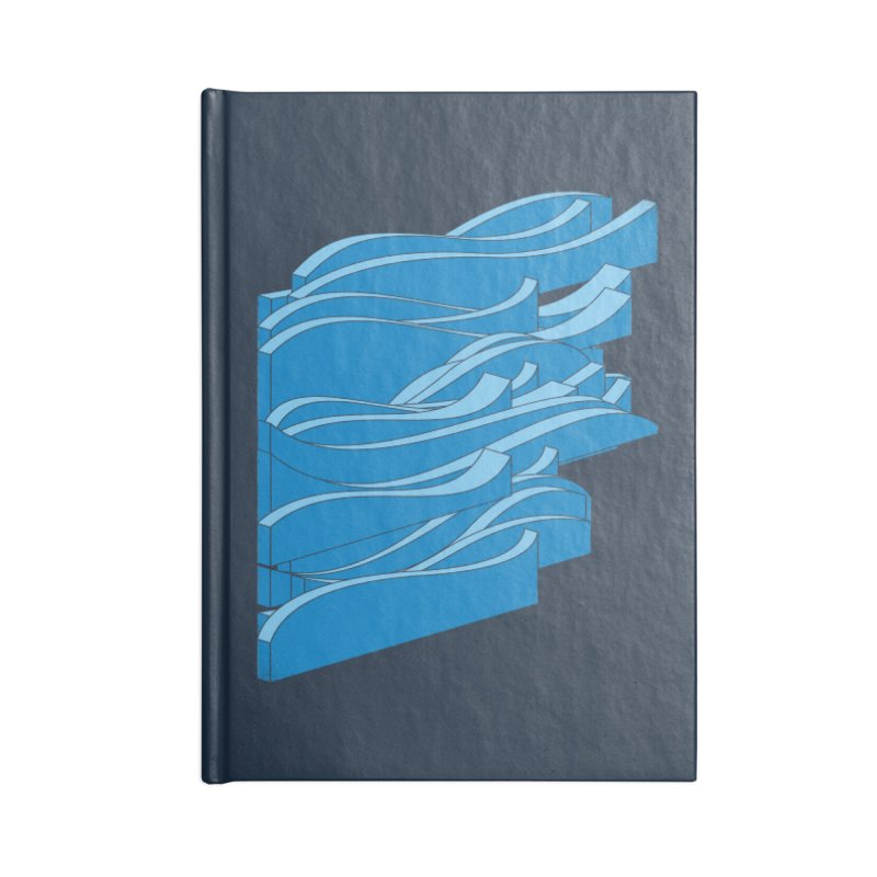 Isometric Waves Accessories Notebook by bulo