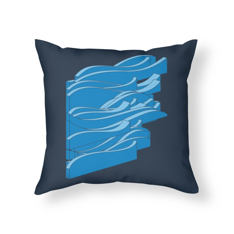 Isometric Waves Home Throw Pillow by bulo