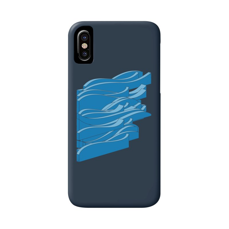 Isometric Waves Accessories Phone Case by bulo
