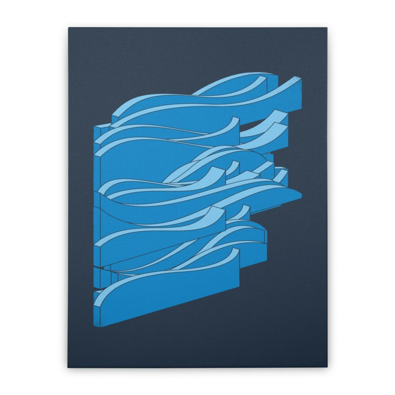 Isometric Waves Home Stretched Canvas by bulo
