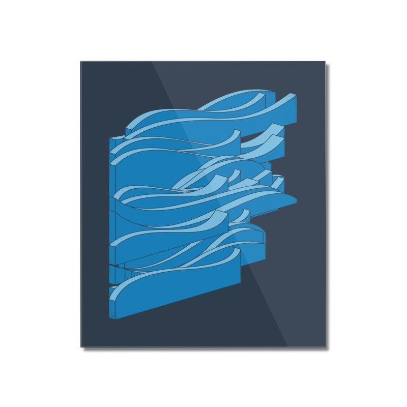 Isometric Waves Home Mounted Acrylic Print by bulo