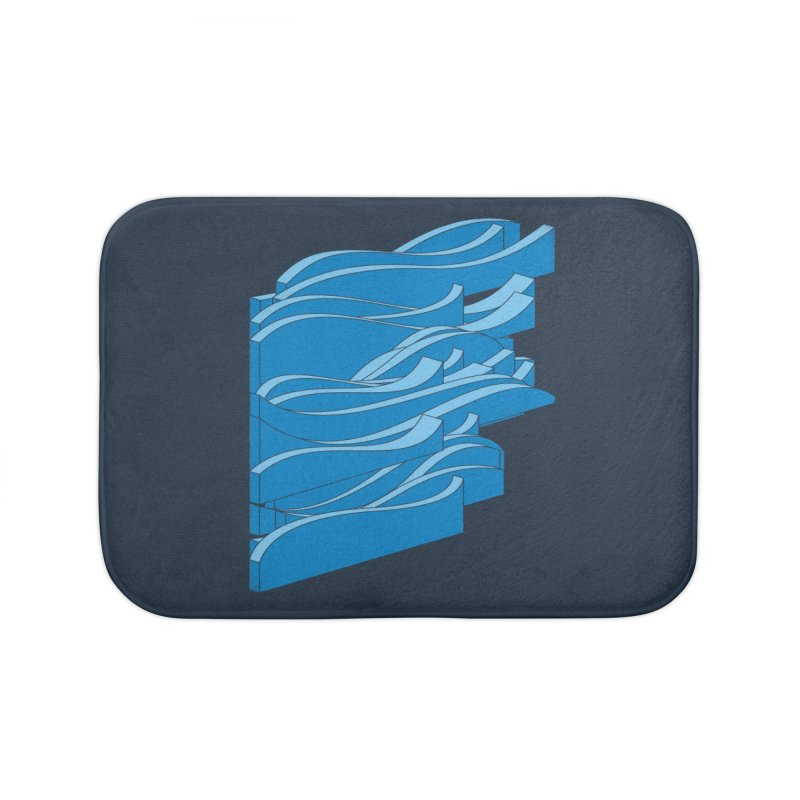 Isometric Waves Home Bath Mat by bulo