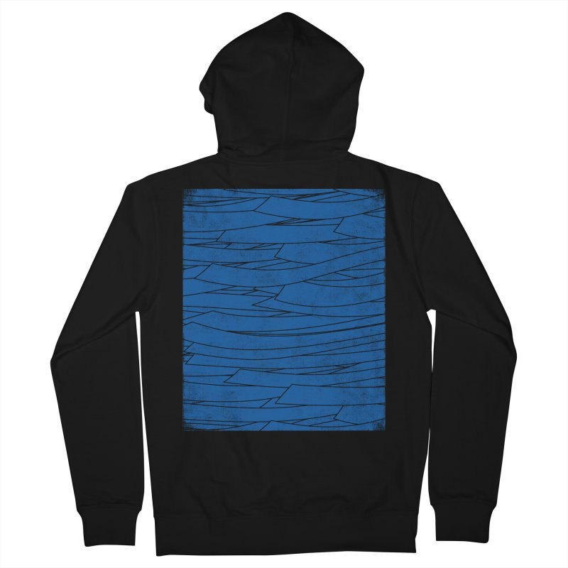 Deep Blue Men's Zip-Up Hoody by bulo