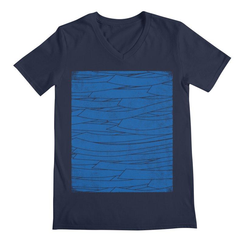 Deep Blue Men's V-Neck by bulo