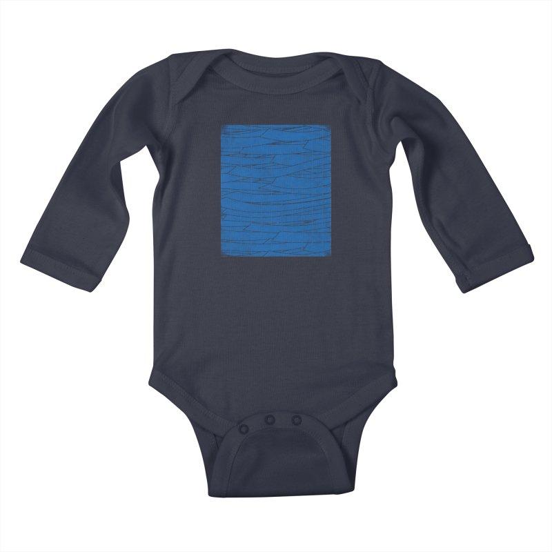 Deep Blue Kids Baby Longsleeve Bodysuit by bulo