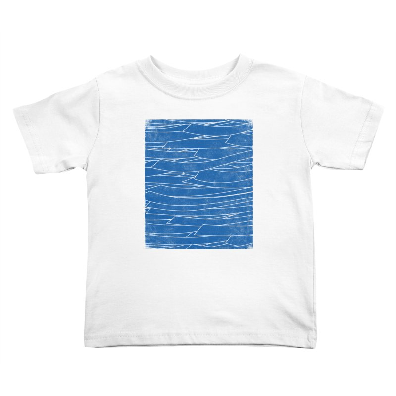 Deep Blue Kids Toddler T-Shirt by bulo