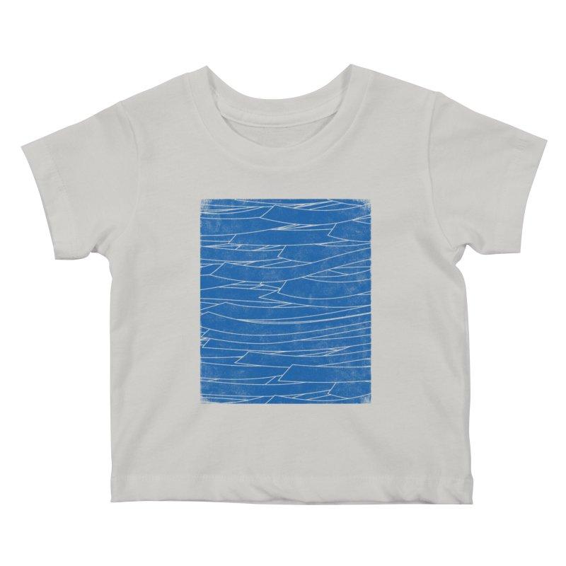 Deep Blue Kids Baby T-Shirt by bulo