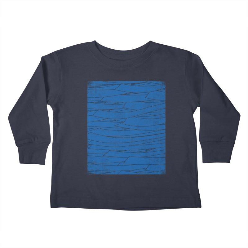 Deep Blue Kids Toddler Longsleeve T-Shirt by bulo