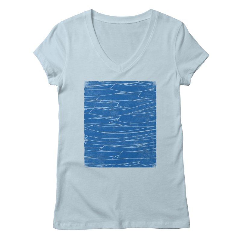 Deep Blue Women's V-Neck by bulo