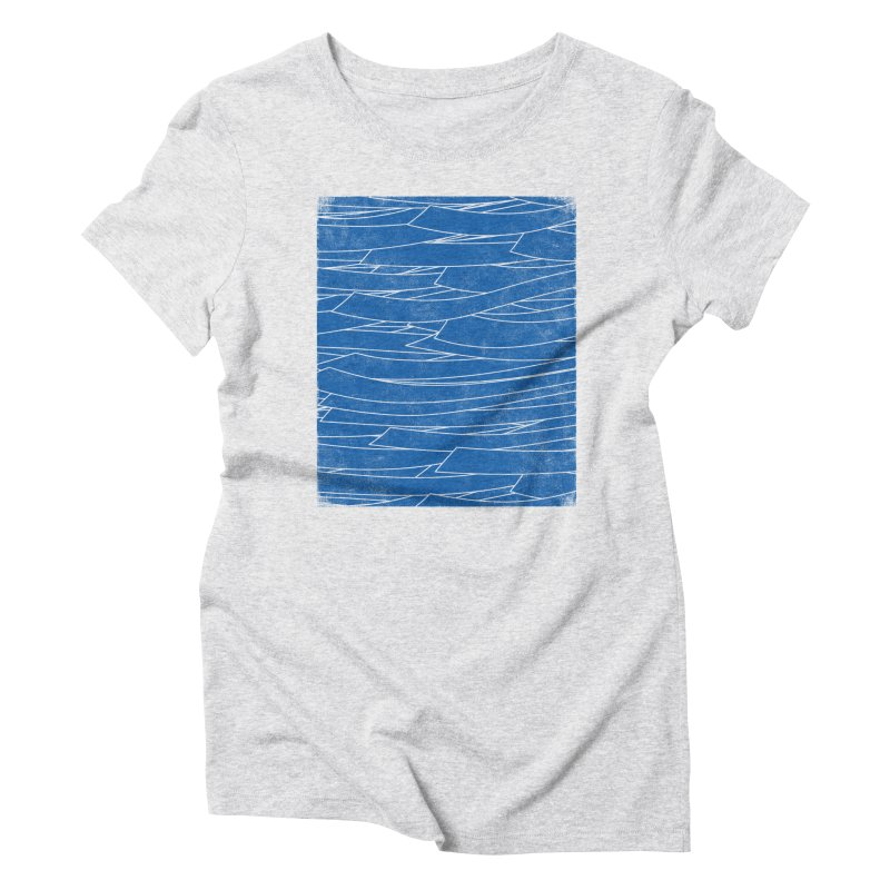 Deep Blue Women's Triblend T-Shirt by bulo