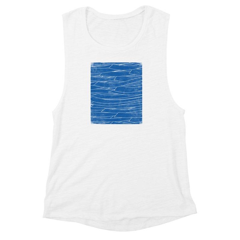 Deep Blue Women's Muscle Tank by bulo