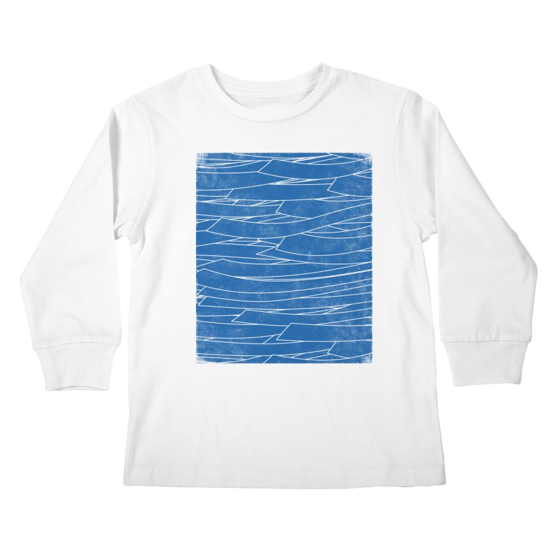 Deep Blue Kids Longsleeve T-Shirt by bulo