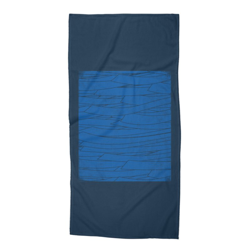 Deep Blue Accessories Beach Towel by bulo