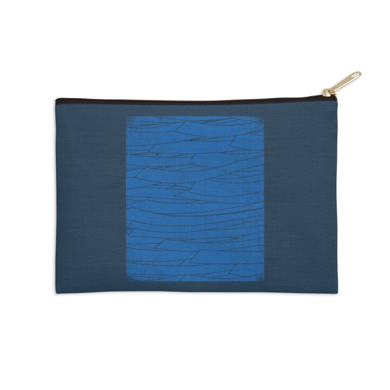 Deep Blue Accessories Zip Pouch by bulo