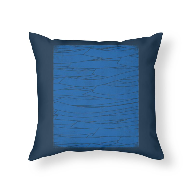Deep Blue Home Throw Pillow by bulo