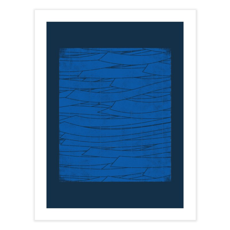 Deep Blue Home Fine Art Print by bulo