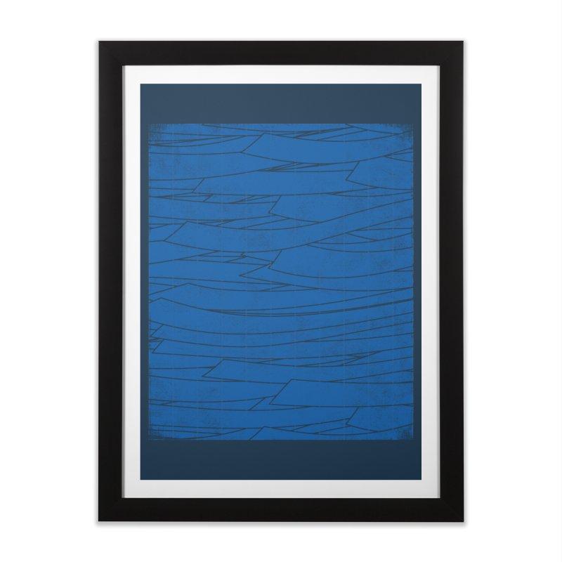 Deep Blue Home Framed Fine Art Print by bulo