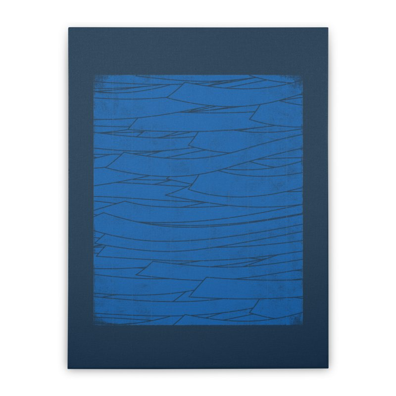 Deep Blue Home Stretched Canvas by bulo