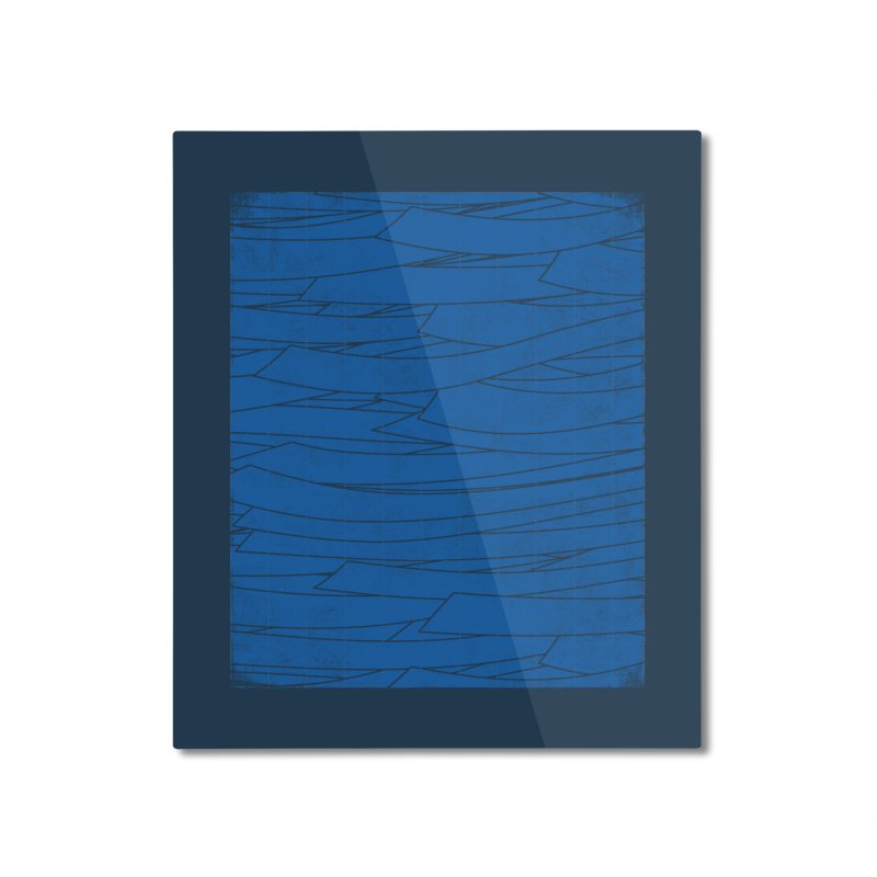 Deep Blue Home Mounted Aluminum Print by bulo