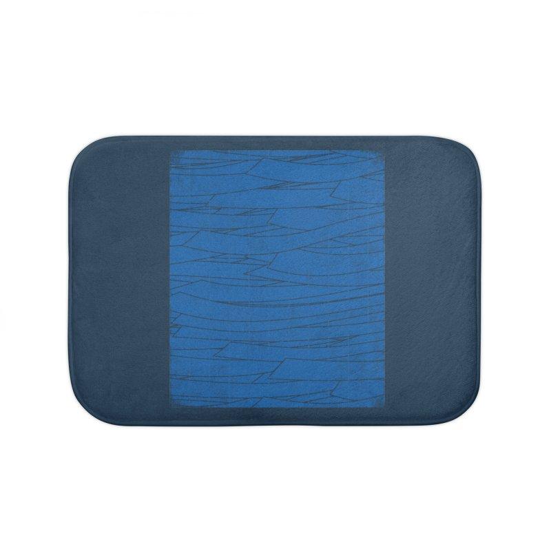 Deep Blue Home Bath Mat by bulo