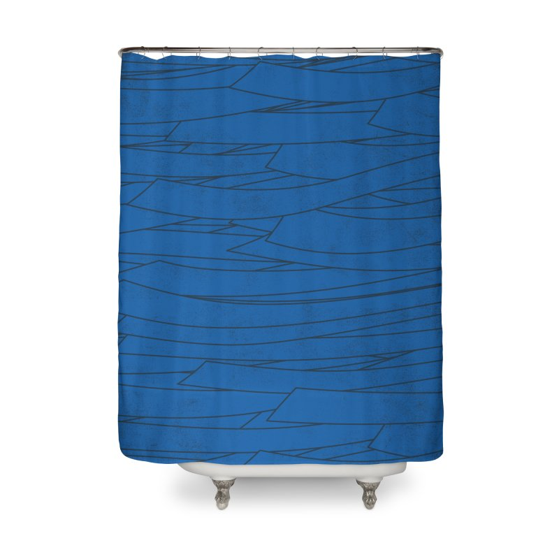 Deep Blue Home Shower Curtain by bulo