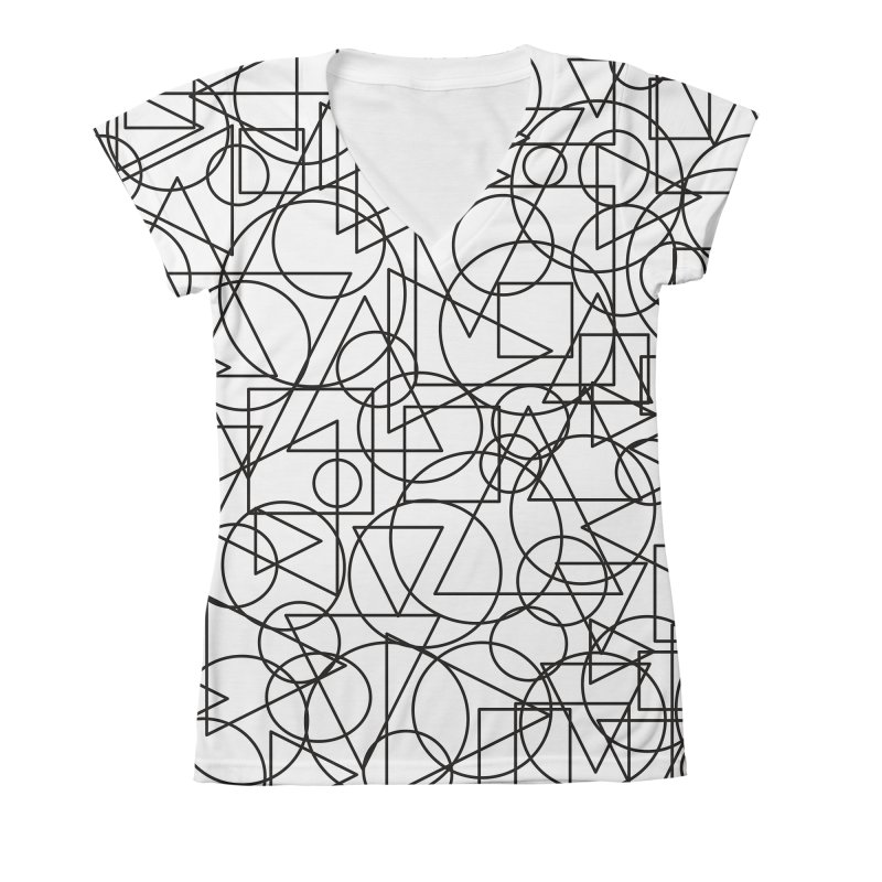 Simple Chaos Women's V-Neck All Over Print by bulo
