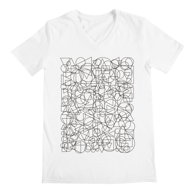 Simple Chaos Men's V-Neck by bulo