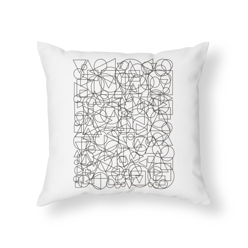 Simple Chaos Home Throw Pillow by bulo