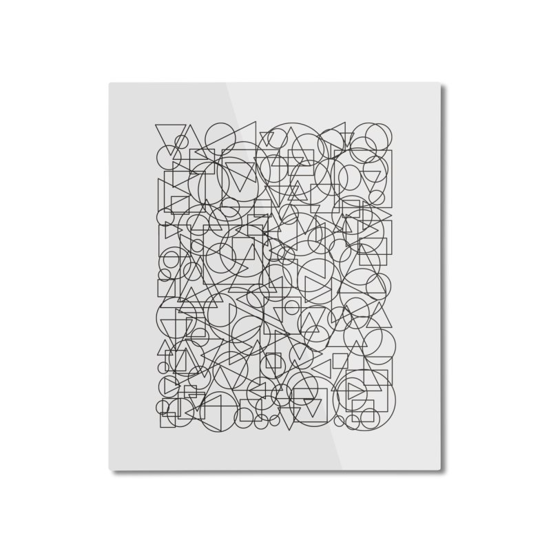 Simple Chaos Home Mounted Aluminum Print by bulo