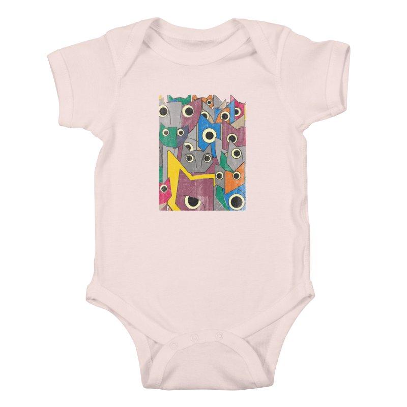 Cubicats Mix Kids Baby Bodysuit by bulo