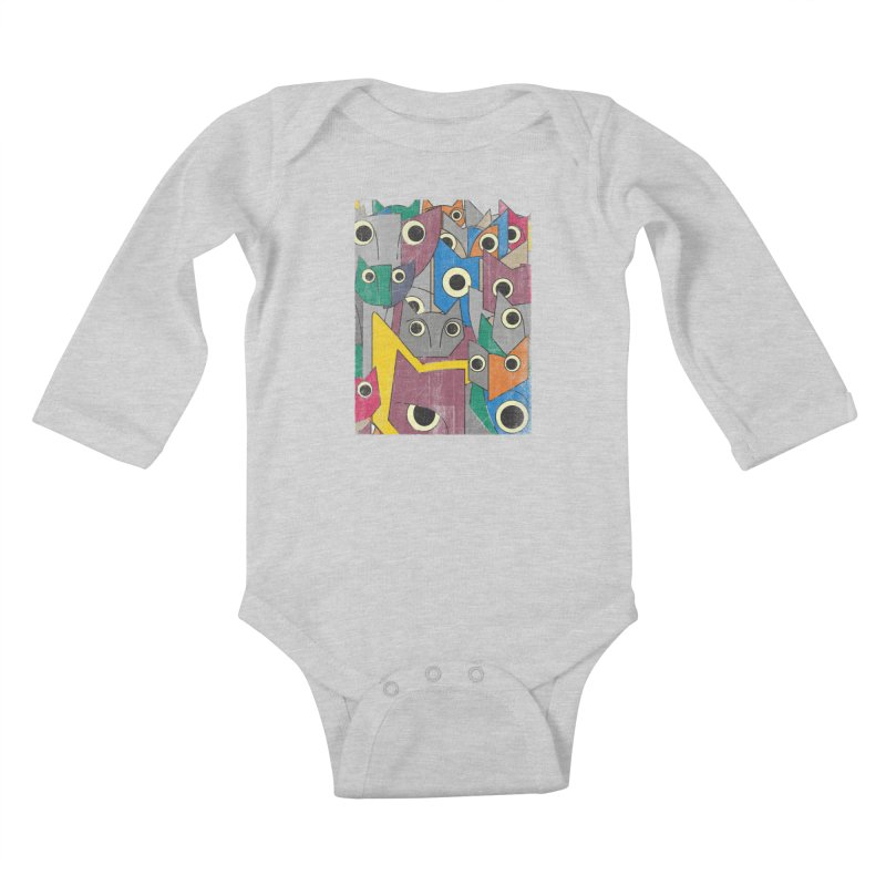 Cubicats Mix Kids Baby Longsleeve Bodysuit by bulo