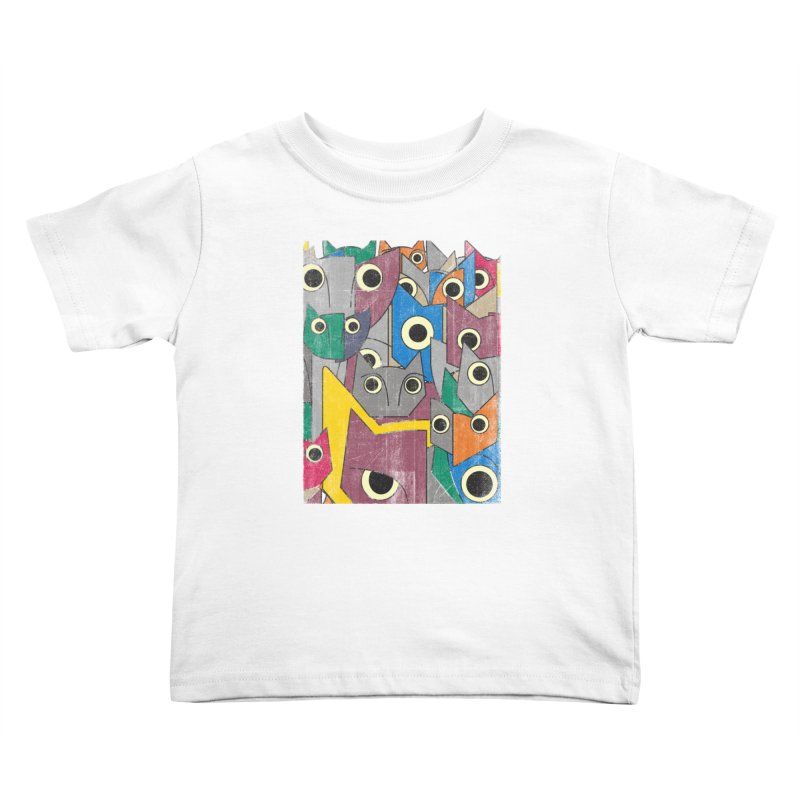 Cubicats Mix Kids Toddler T-Shirt by bulo