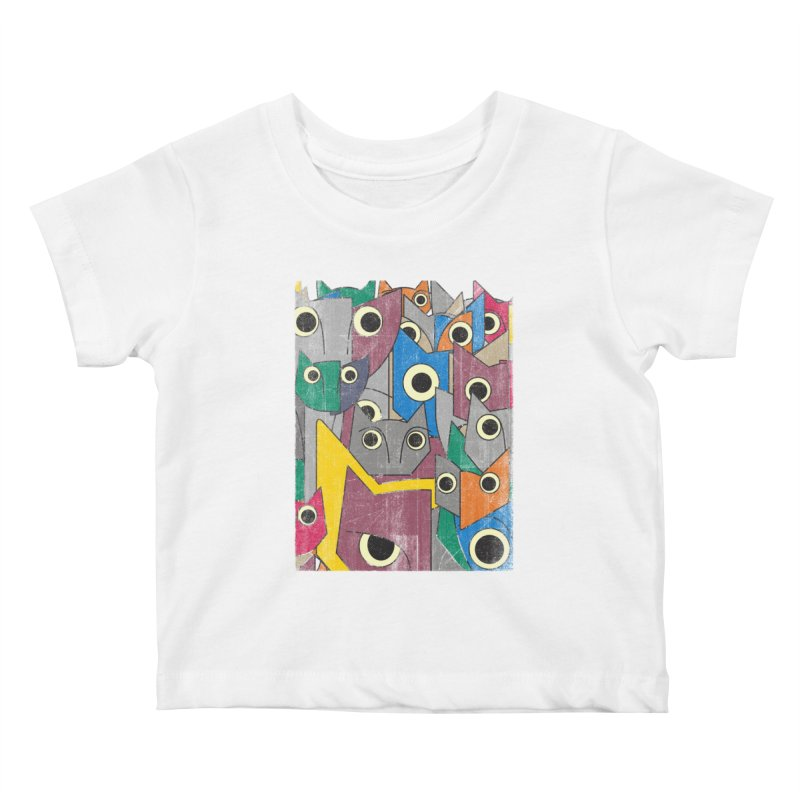 Cubicats Mix Kids Baby T-Shirt by bulo