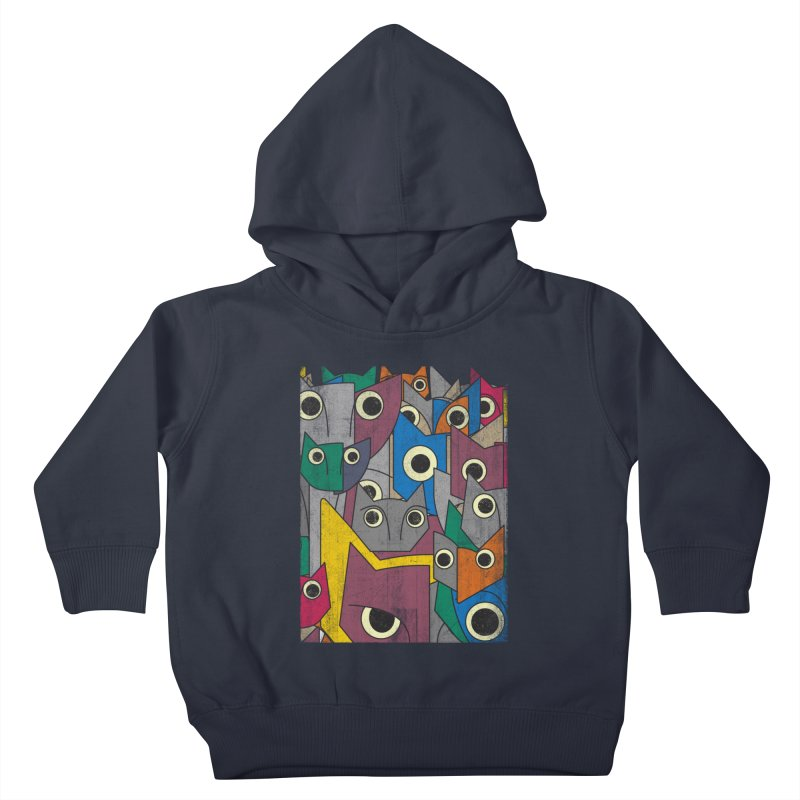Cubicats Mix Kids Toddler Pullover Hoody by bulo