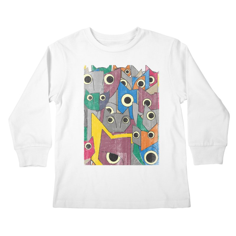 Cubicats Mix Kids Longsleeve T-Shirt by bulo