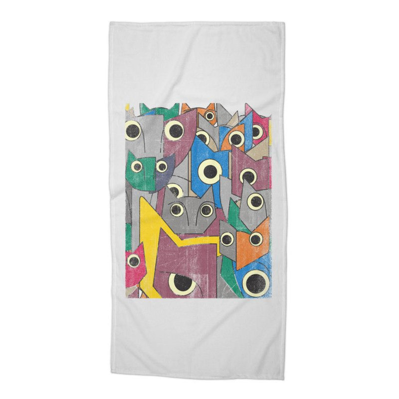 Cubicats Mix Accessories Beach Towel by bulo