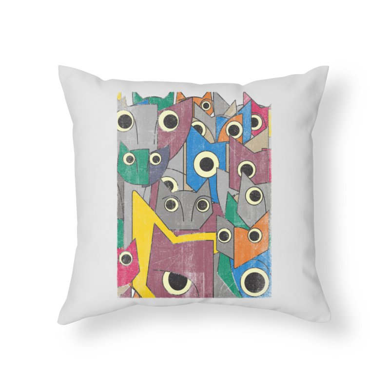 Cubicats Mix Home Throw Pillow by bulo