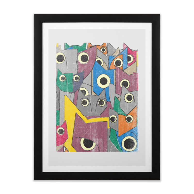 Cubicats Mix Home Framed Fine Art Print by bulo