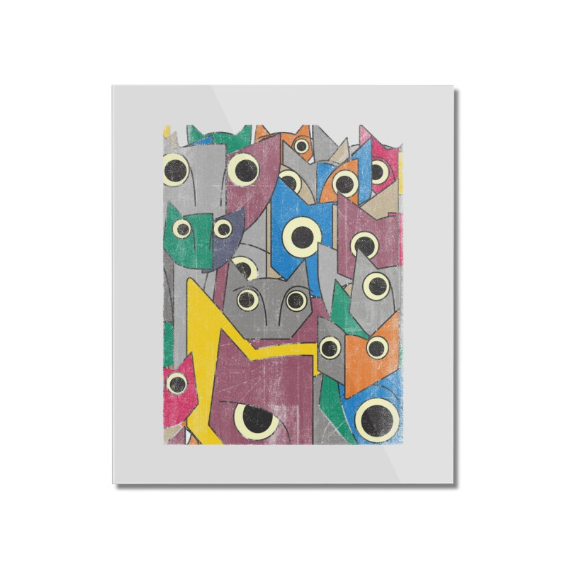 Cubicats Mix Home Mounted Acrylic Print by bulo