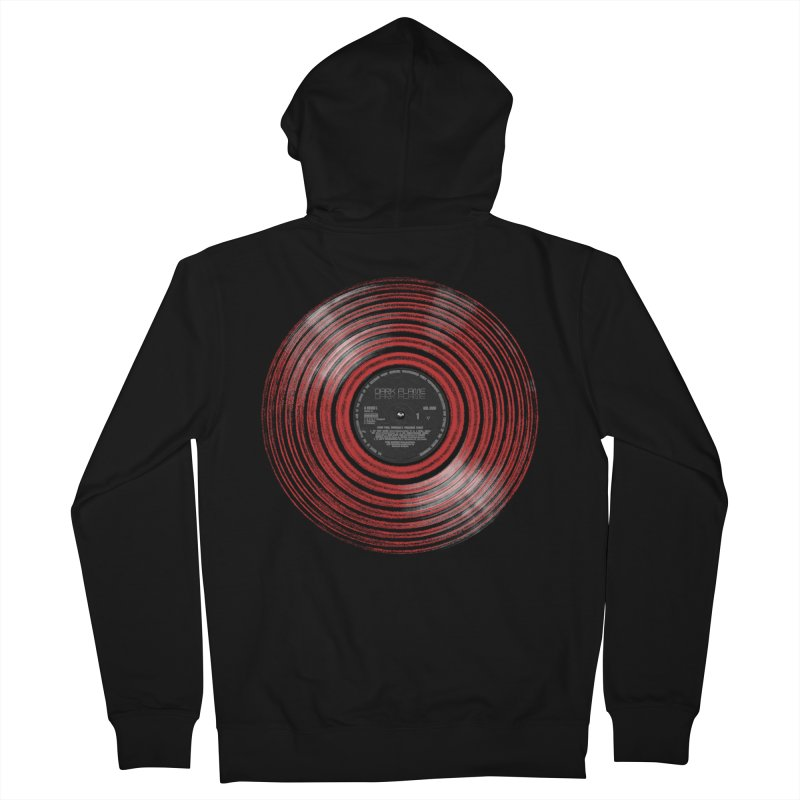 Dark Flame Vinyl Men's Zip-Up Hoody by bulo