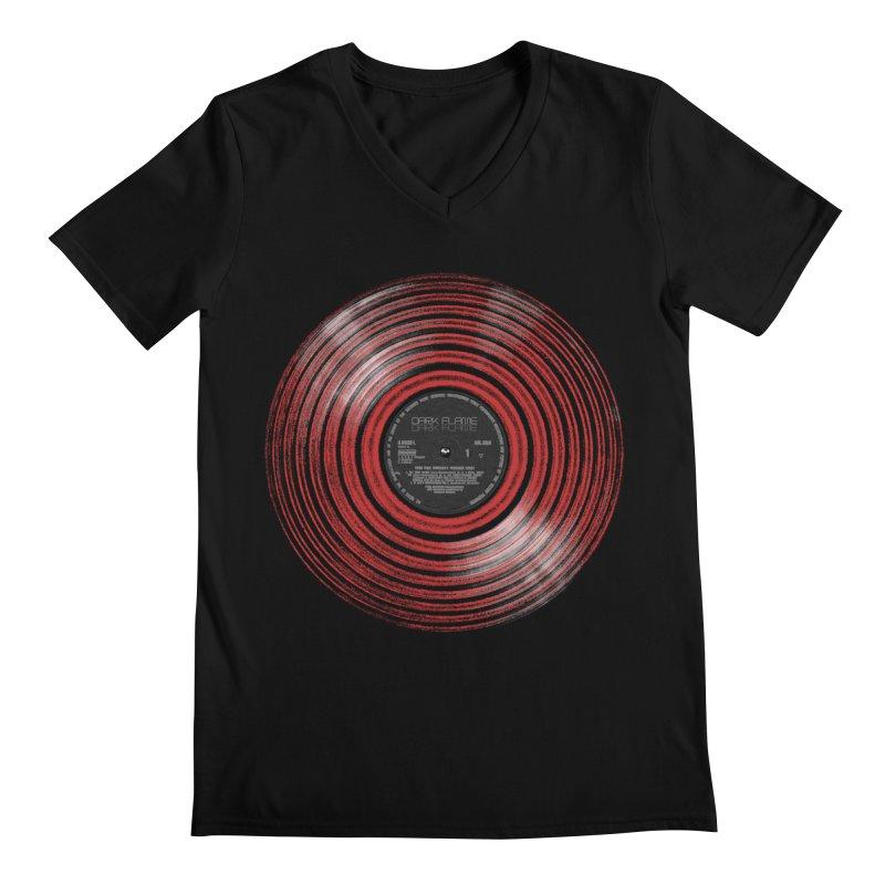 Dark Flame Vinyl Men's V-Neck by bulo