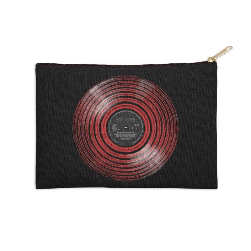 Dark Flame Vinyl Accessories Zip Pouch by bulo