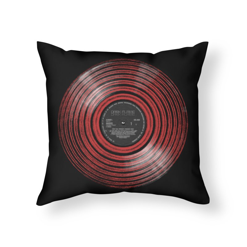 Dark Flame Vinyl Home Throw Pillow by bulo
