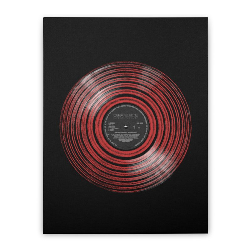 Dark Flame Vinyl Home Stretched Canvas by bulo