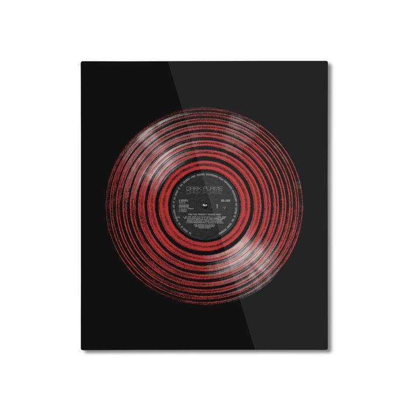 Dark Flame Vinyl Home Mounted Aluminum Print by bulo
